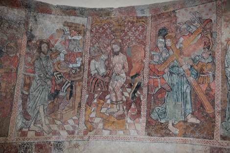 Eglise de Benqué Fresque