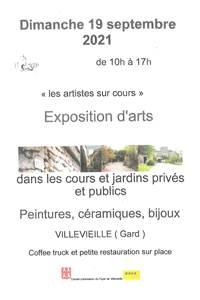 """Exposition d'arts """"les artistes sur cours"""""""