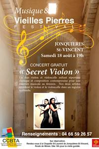 """Concert """"Secret Violon"""" - Festival Musique et Vielles Pierres"""