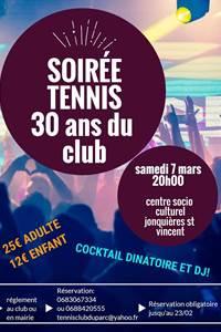 """Soirée tennis """"30 ans du club"""""""