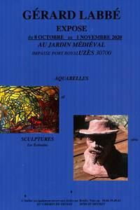 Exposition au Jardin Médiéval - Sculptures et aquarelles de Gérard Labbé
