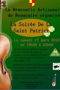 Soirée de la St Patrick à la Brasserie Artisanale de Beaucaire