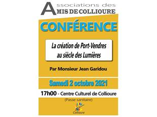 Conference - The creation of Port Vendres in the Enlightenment
