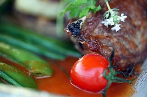 Plat terroirs restaurant hôtel le Gardon Pont du gard ©