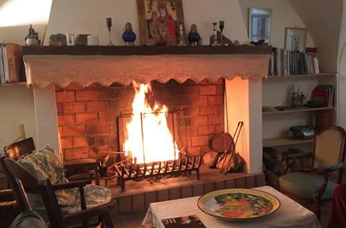 au coin du feu aux Asphodèles en Cévennes ©