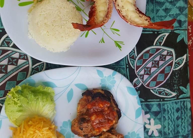 repas langouste et repas poulet  grillé
